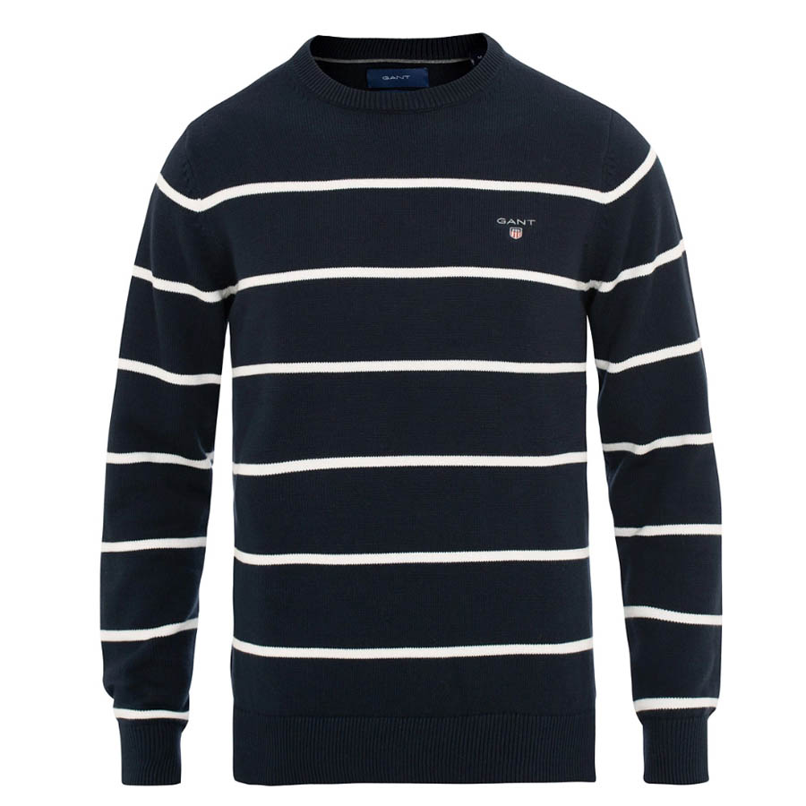 GANT Classic Cotton Stripe Crew Neck Pullover