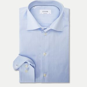 Eton Contemporary Fit - Signature Twill Dress Skjorte i Blå