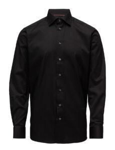 Eton Slim - Signature Twill Dress Skjorte i sort