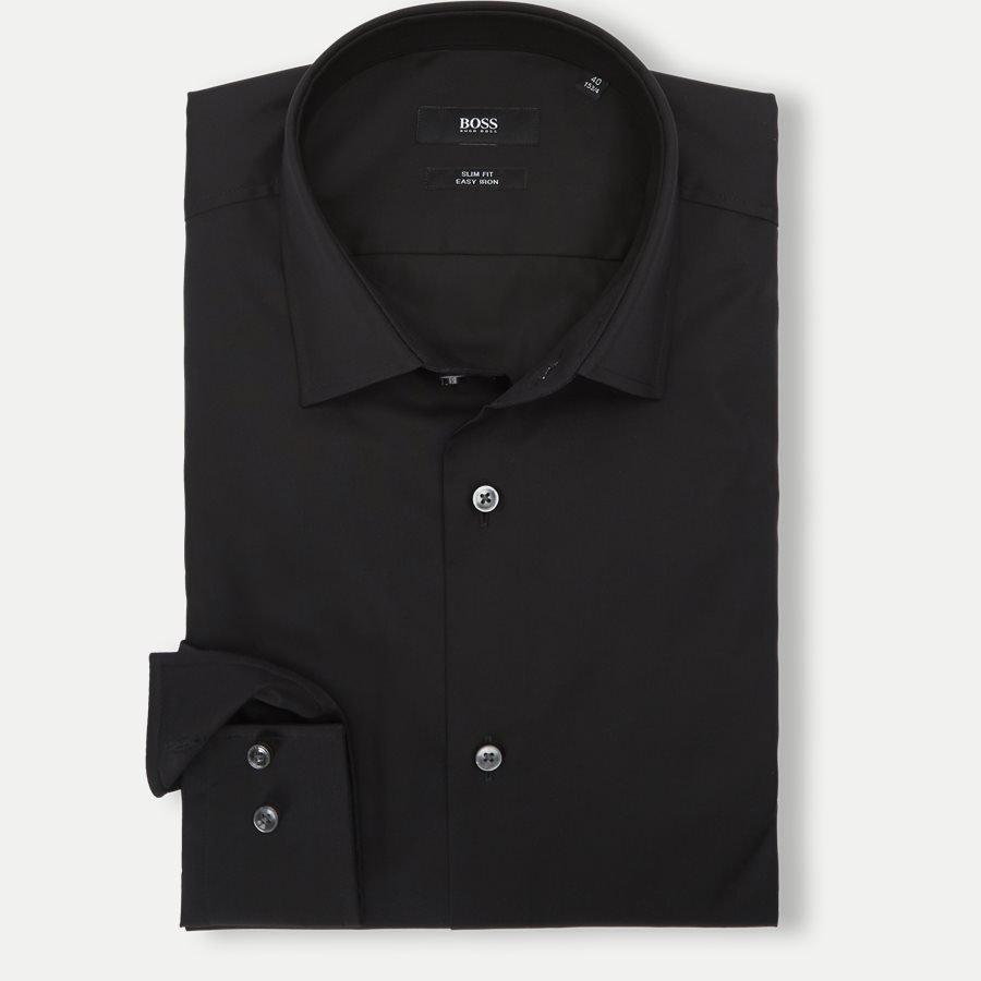 HUGO Jenno - Sort Skjorte til mænd