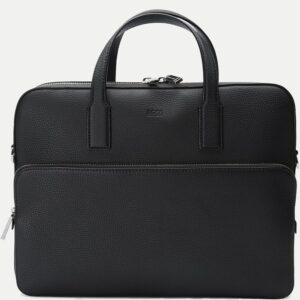 Hugo Boss Crosstown læder taske til mænd (sort)