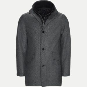 Hugo Boss Regular - Coxtan8 uldfrakke (Grå)
