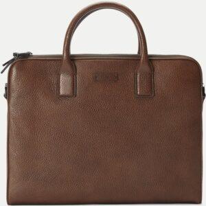 Hugo Boss Traveller læder taske til mænd (Brun)
