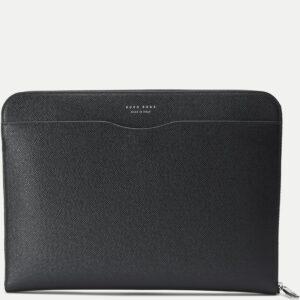 Hugo Boss læder taske til mænd (Sort)