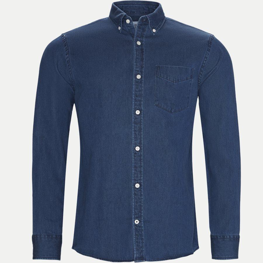 NN07 levon BD skjorte Blå