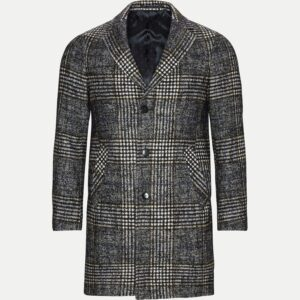 Sand Modern fit - Retro coat i grå