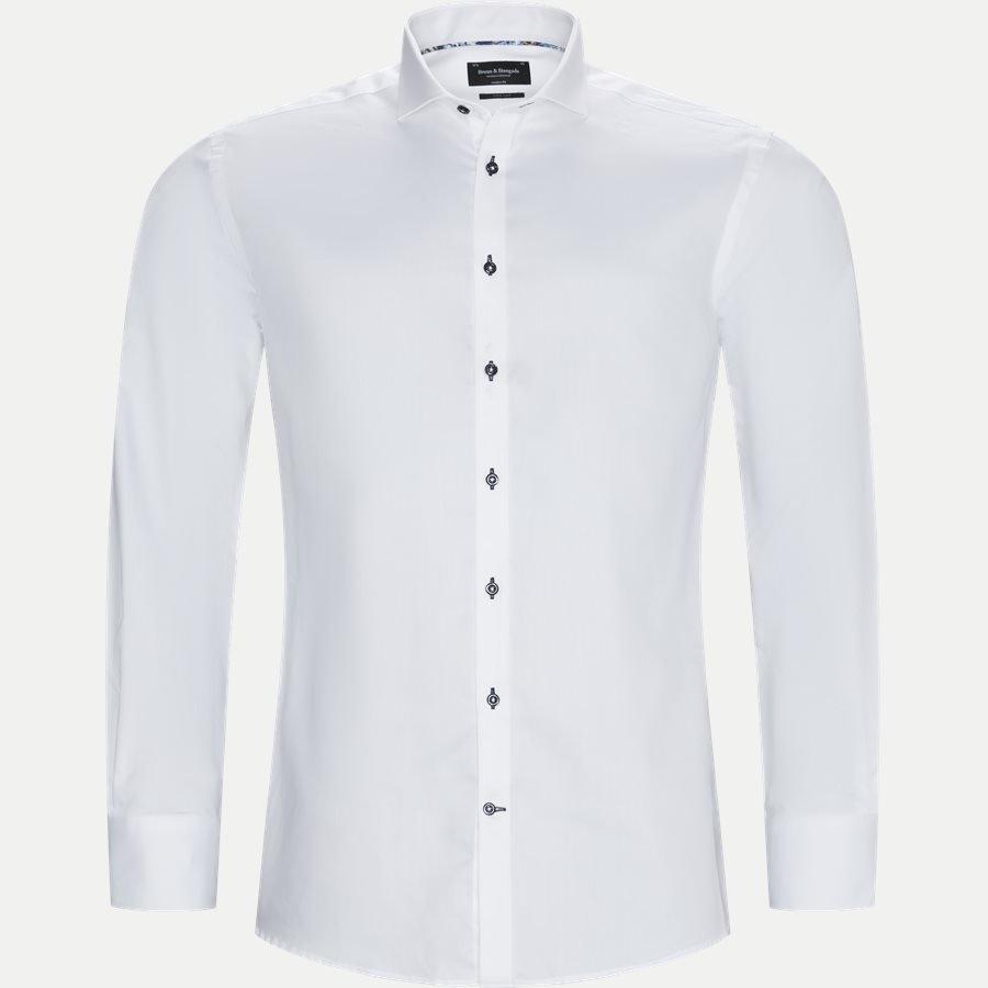 bruun og stengade skjorte