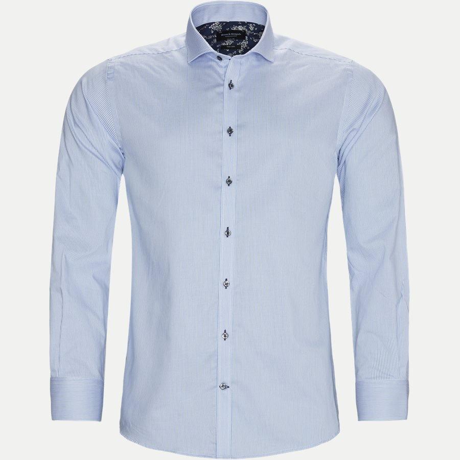 bruun og stengade stripede skjorte til mænd