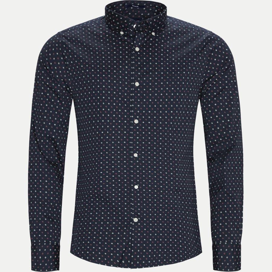 gant regular micro scribble skjorte blå