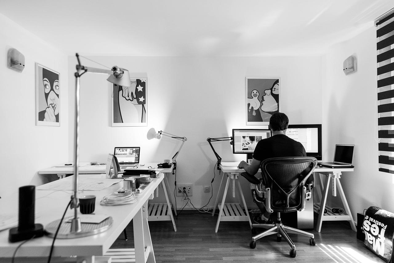 Sådan får du indrettet et kontor derhjemme